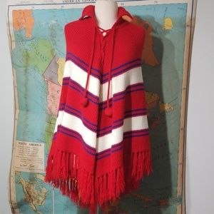 Adorable Crocheted Vintage Poncho